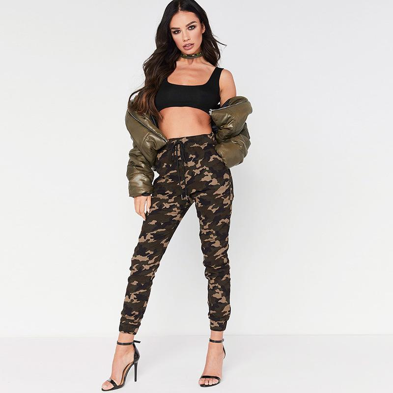 Womens Camo Cargo Harem Trousers Army Combat Camouflage Loose Baggy Fit Pants | Edlpe