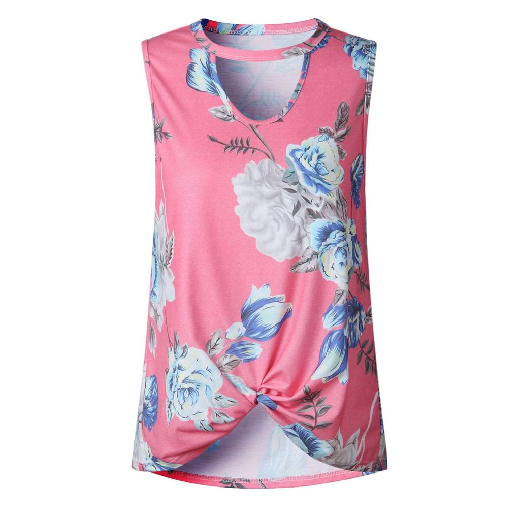 Womens Summer Sleeveless Chocker Neck Vest Tops Lady Casual Cami Tee Blouse Tank Top | Edlpe