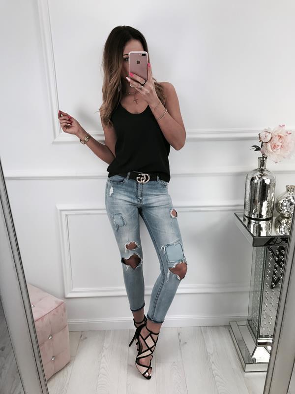 Women Sexy V Nexk Lace Back Strappy Vest Ladies Hollow Backless T Shirts Crew Neck Blouse | Edlpe