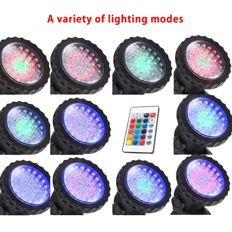 Led Aquarium Light Rgb 36 Leds Fish Tank Underwater Spot Light Garden Pond Light Swimming Pool Light | Edlpe