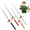 Image of Telescopic Mini Portable Pocket Pen Shape Aluminum Alloy Fishing Rod Pole + Reel | Edlpe