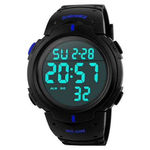Mens Sports Watch Waterproof Digital Led Military Electronics Casual Wristwatch | Edlpe