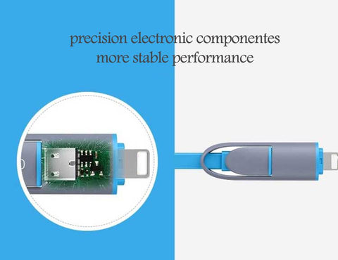Charger Cable Retractable Charging Android Lightning Cable 8 Pin Micro Usb Stretch | Edlpe