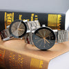 Image of Fashion Retro Couple Watch Stainless Steel Men Women Quartz Analog Wrist Watches | Edlpe