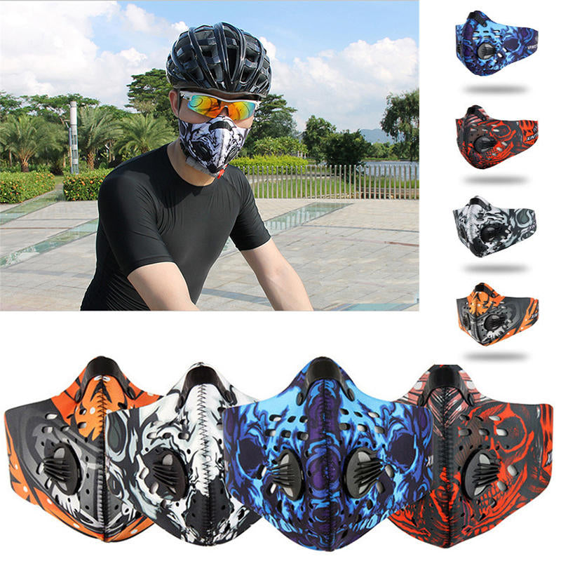 Anti Dust Riding Motorcycle Bicycle Cycling Outdoor Ski Half Face Mask Filte | Edlpe