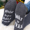 "Image of Unisex Women Mens ""Dobby Is Free"" Funny Cotton Ankle Socks Casual Gift"