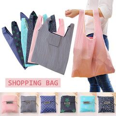 Large Capacity Reusable Folding Shopping Bags fashion Foldable Beach Shopping Bags Grocery