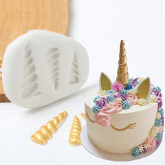 3D Unicorn Horn Silicone Fondant Mold Cake Chocolate Decorating Candy Cake Diy Baking Tools | Edlpe