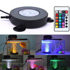 LED Aquarium Light Fish Tank Lamp Bubble Air Stone Underwater Color Changing LED Remote control
