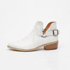 Image of Summer Autumn Women Fashion Leather Buckle Ankle Boots Cut-Out Low Chunky Heel Casual Shoes | Edlpe