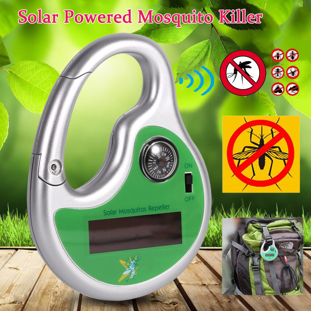 Portable Electronic Mosquito Pest Repeller Hook Type Solar Ultrasonic Insect Killer With Compass | Edlpe