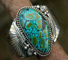 Image of Womens Vintage Turquoise Feather Ring Ladies Birthday Engagement Jewelry Gift Size 6-10 | Edlpe