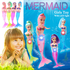Image of Mermaid Princess Doll With LED Light Classic 20cm High night light Dolls Toy For Girl Gifts