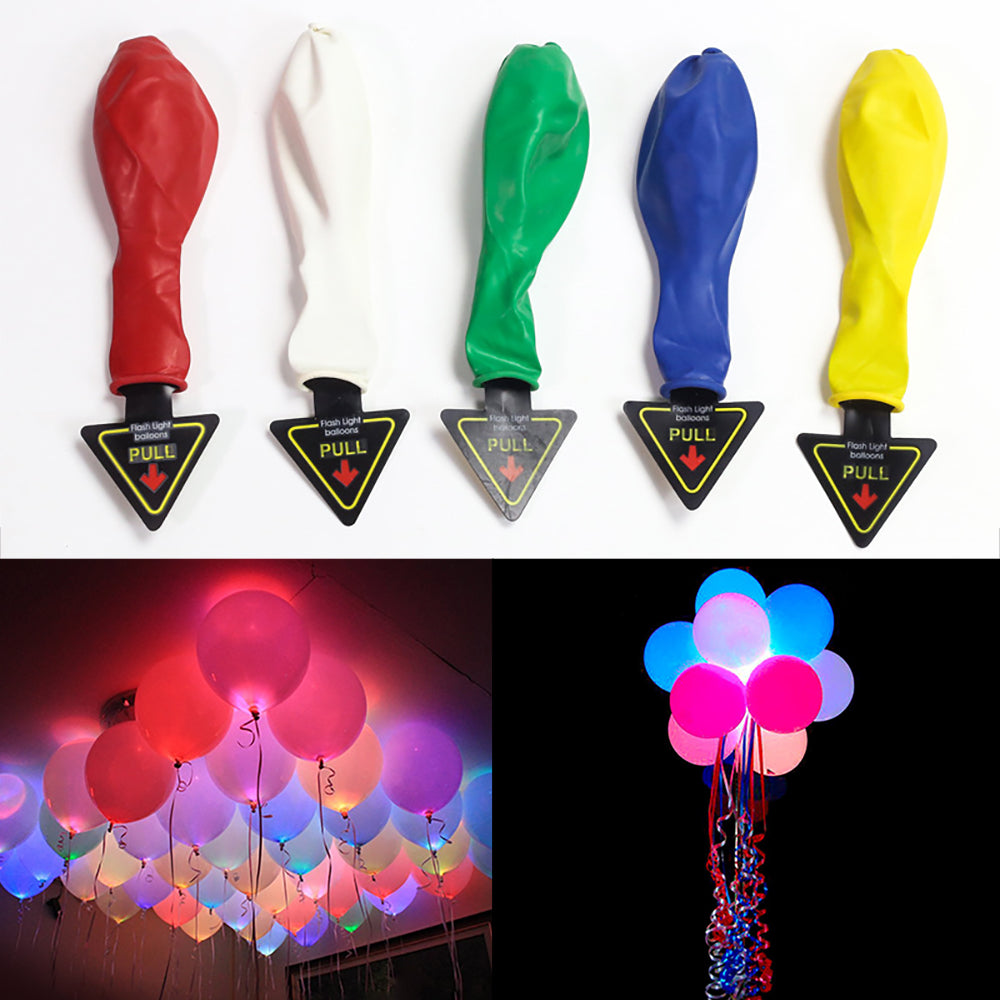 Led Light Up Balloons 12 Inch Latex Multicolor Lights Helium Balloons Wedding Birthday Party Decor | Edlpe