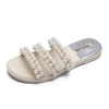 Image of Summer Women Leather Slippers Flats Beach Casual Outdoor&indoor Slippers | Edlpe