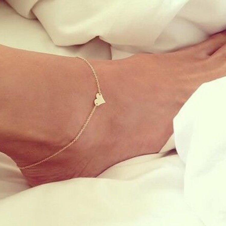 Adjustable Sweet Heart Foot Chain  Anklet  Bracelet Surprise For Women
