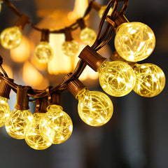 G40 Globe Bulbs String Lights for Indoor Outdoor Patio Cafe Wedding Party Home Christmas Decor