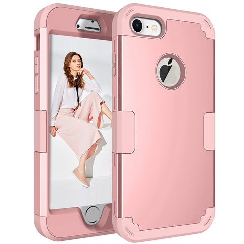 Hybrid Heavy Duty Shockproof Rubber Hard Case Cover For Iphone X 8 7 Plus | Edlpe