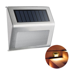 Stainless Steel Waterproof LED Garden Light Solar Powered Wall Lamp