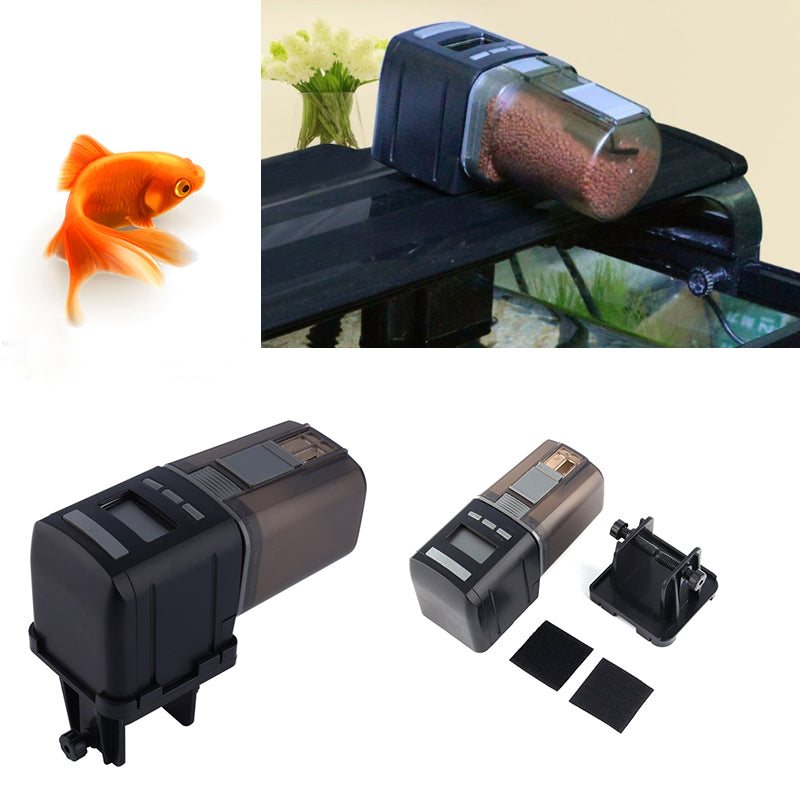Automatic Fish Feeder For Aquarium Programmable Vocation Auto Feeding With Lcd Display | Edlpe