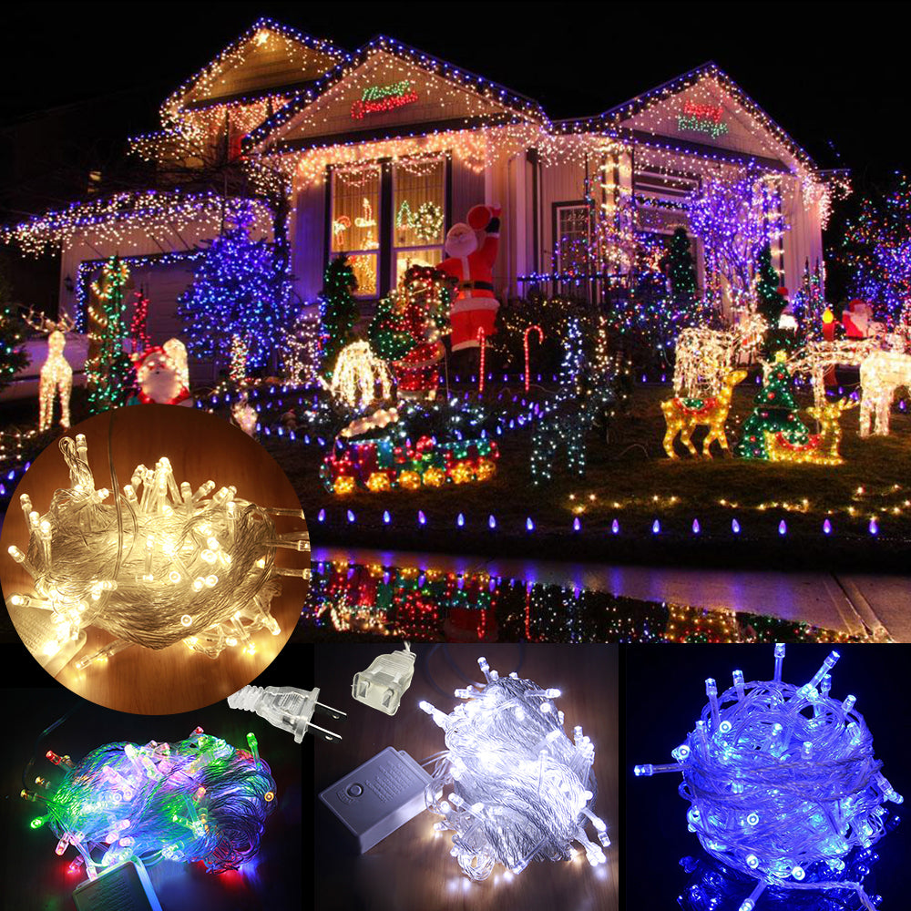 Led String Lights 10M Waterproof 110V 100 Led Tail Plug Christmas Decoration Party Fairy Garland | Edlpe