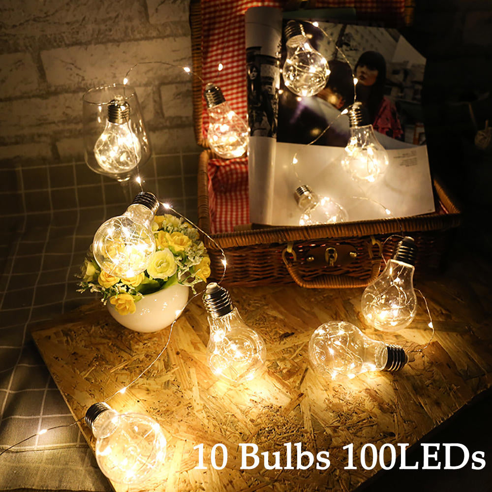 5V Usb 100 Led Lightbulb 10 Bulb String Lights Ambient Lighting Home Decor | Edlpe