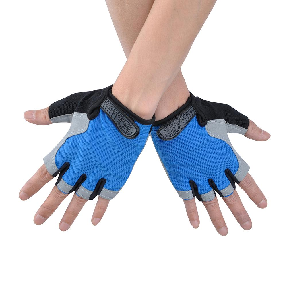 Half Finger 3D Gel Silicone Gloves Men Women Cycling Gym Fitness Workout Jogging Training Glove | Edlpe