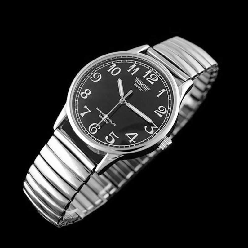 Women Men Wrist Watch Fashion Stainless Steel Watches Elastic Band Quartz Watch | Edlpe