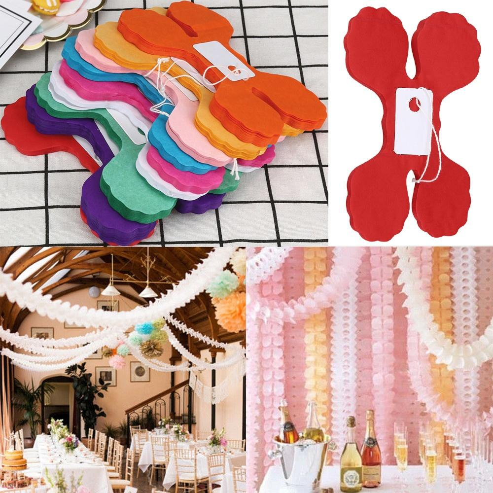 3M Four Leaf Paper Garland Bunting Birthday Party Wedding Baby Kid Shower Decor | Edlpe