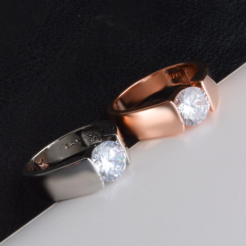 Stainless Steel Smooth Simple Wedding Couples Rings Romantic Tail Bands | Edlpe