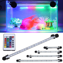 Rgb Remote Led Aquarium Fish Tank Bar Light Waterproof Submersible Lamp 5050 Smd | Edlpe