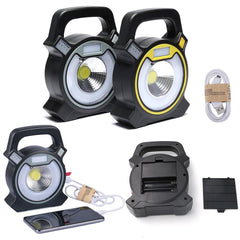 USB Rechargeable COB LED Flood Light 4 Modes Garden Work Security Spot Lamp