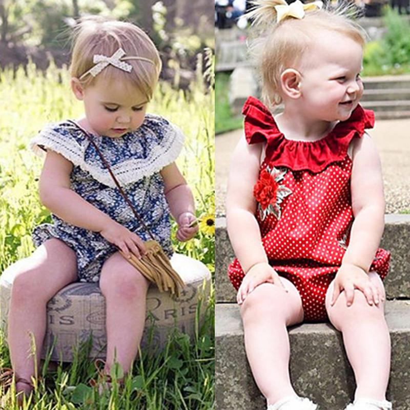 Baby Girls Striped Bowknot Sleeveless Romper Party Clothes 0-18Months | Edlpe