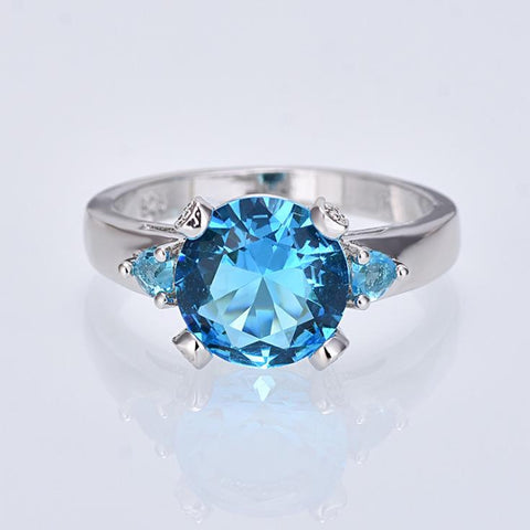 Classic Round Cut Zinc Alloy Ring Women Jewelry Wedding Party Gifts For Girl Friend | Edlpe