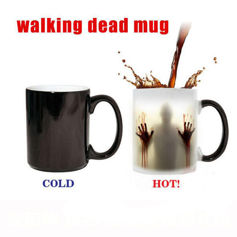 Walking Dead Magic Coffee Mug Color Changing Heat Sensitive Tea Cup Halloween | Edlpe