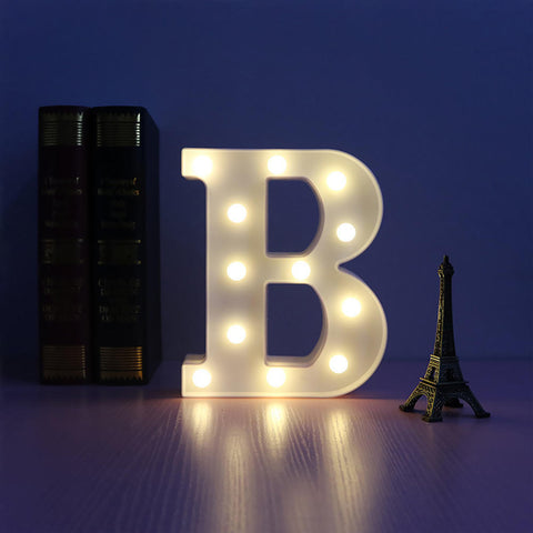 A To Z Alphabet Letter Sign Led Night Light For Home Party Decor | Edlpe