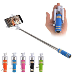 Mini Handheld Wired Remote Selfie Stick Monopod Extendable For Iphone Android | Edlpe