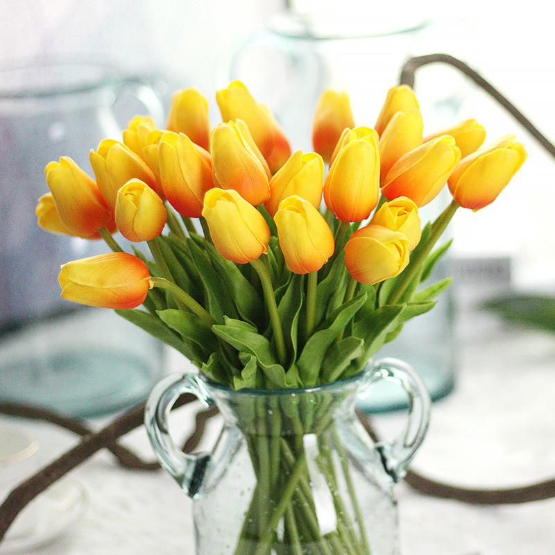 Pu Artificial Tulips Flowers For Home Wedding Party Decor Mothers Day Bouquet 6 Colors | Edlpe
