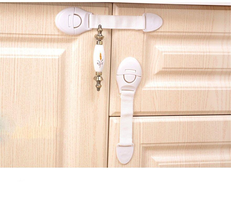10Pcs Adhesive Baby Child Door Safety Locks For Fridge Drawer Cabinet Cupboard | Edlpe