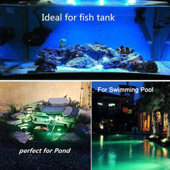 LED Aquarium Light RGB 36 Leds Fish Tank Underwater Spot Light Garden Pond light Swimming Pool Light