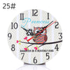 Image of Modern Design Mdf Wooden Wall Clock Vintage Rustic Shabby Chic Home Cafe Decoration Desk Clock | Edlpe