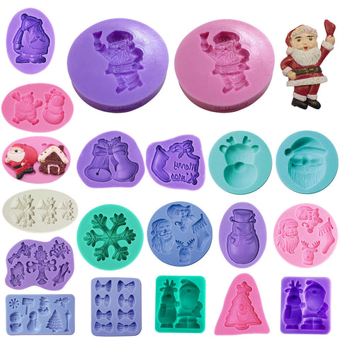 Christmas Xmas Theme Decoration Silicone Cake Mould Baking Chocolate Mold | Edlpe