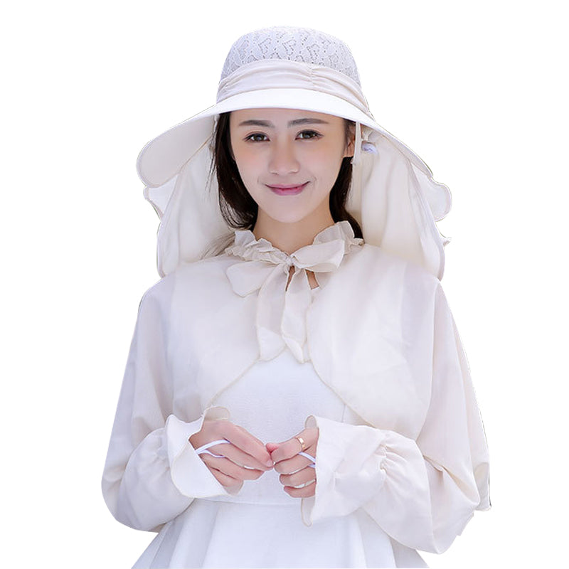 Women Wide Large Brim Sunscreen Sun Hats Uv Protection Shawl Outdoor Summer Beach Hat Caps | Edlpe