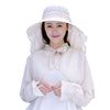 Image of Women Wide Large Brim Sunscreen Sun Hats Uv Protection Shawl Outdoor Summer Beach Hat Caps | Edlpe