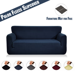 Sofa Cover Slipcover Polyester Spandex Stretch Furniture Cover Polar Fleece Furniture
