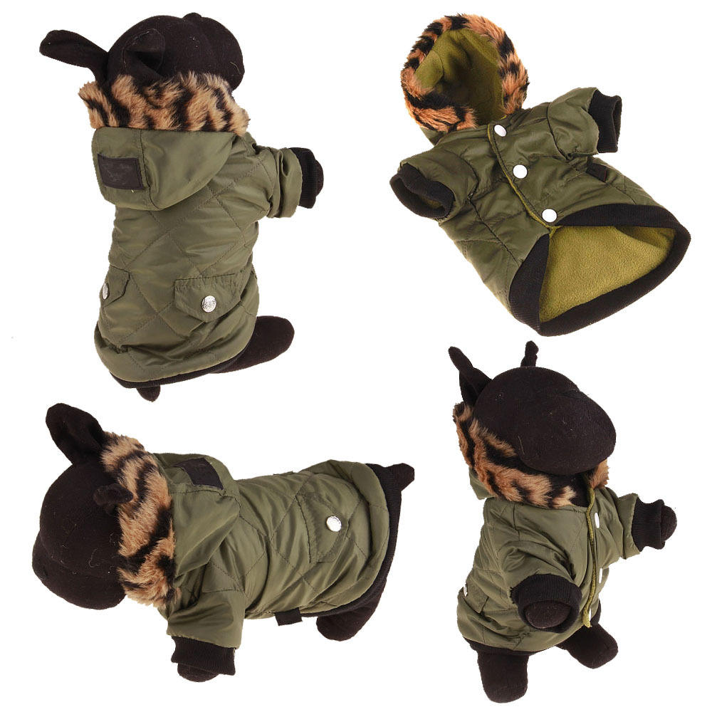 Pet Dog Cat Air Force Coat Costume Puppy Cotton Warm Winter Hoodie Clothes | Edlpe