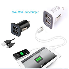 Dc 5V 3.1A Dual Cigar Lighter 2.1A Usb Car Charger Vehicle Mini Car Charger Adapter For Phone | Edlpe