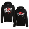 Image of Women Men Couple Clothes Long Sleeve Hoodie Coat Beast And Beauty Print Lover Hooded Sweater | Edlpe