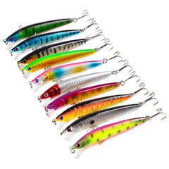 Fishing Lures 9.5cm/8.5g Plastic Hard Bass Baits Hooks Minnow Lures/10PCS