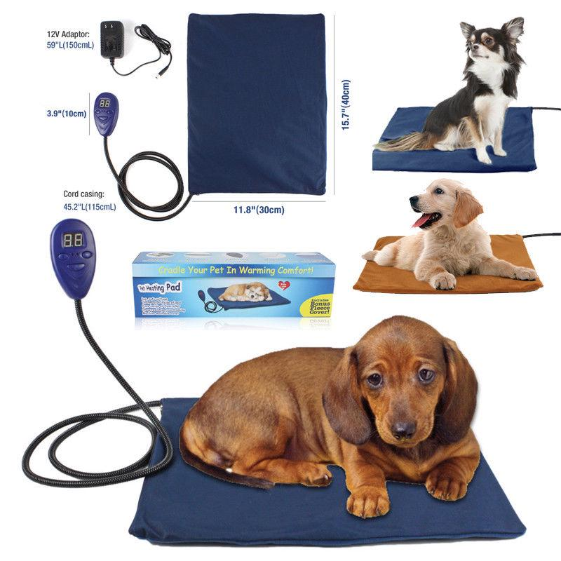 Pet Electric Heating Pad Heater Warmer Mat Bed Blanket For Dog Cat Waterproof | Edlpe